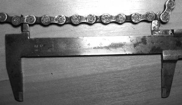 измерение износа цепи
