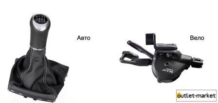 Шифтер для велосипеда и рычаг КПП автомобиля