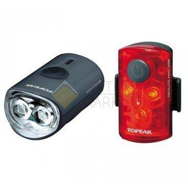 Комплект габаритных фонарей с зарядкой TOPEAK Mini Combo USB