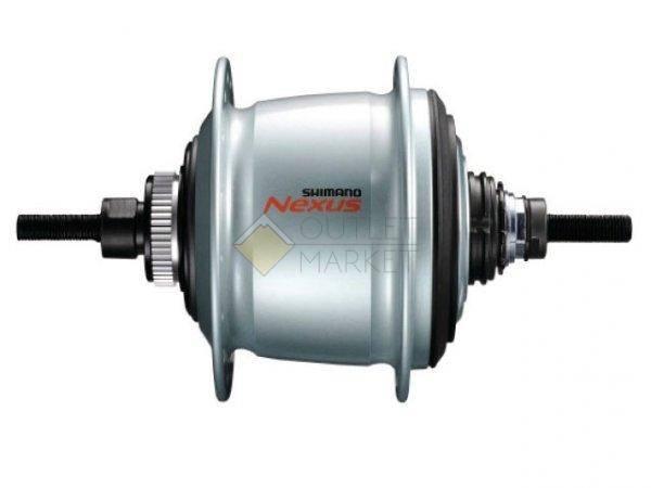 Втулка планетарная Shimano Nexus C6001-8D 32 отверстия 8 скоростей C.Lock 135x187 мм серебро