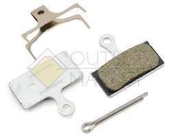 Тормозные колодки для диск тормозов Shimano G02A, пласт, пара, с пружин, с шплинтом