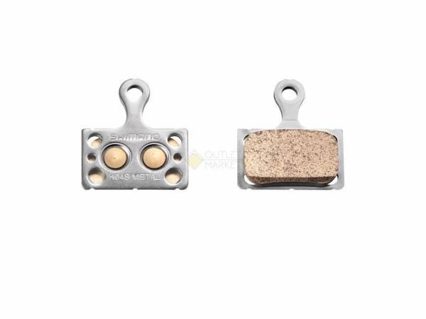 Тормозные колодки для диск тормозов Shimano K04S металл пара с пружиной и шплинтом