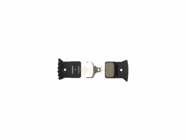 Тормозные колодки для диск тормозов Shimano L02A пластик с радиатором пара с пружиной и шплинтом