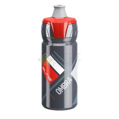 Фляга для велосипеда Elite 550 мл Ombra, серый, красный рисунок