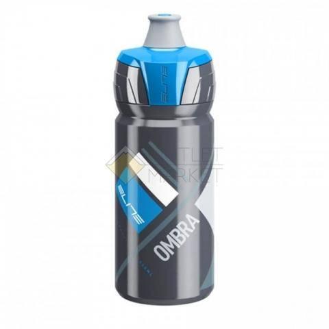 Фляга для велосипеда Elite 550 мл Ombra, серый, синый рисунок