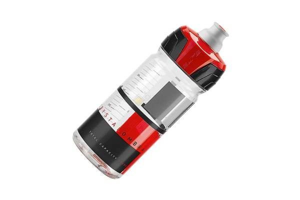 Фляга для велосипеда Elite 550 мл Crystal Ombra, красный рисунок