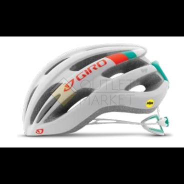 Велошлем Giro 17 SAGA MTB женский матовый белый/бирюзовый/оранжевый