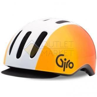 Велошлем Giro 17 REVERB MTB  матовый белый/оранжевый