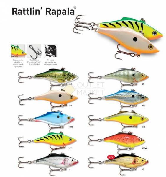 Воблер Rapala Rattlin' Rapala RNR04