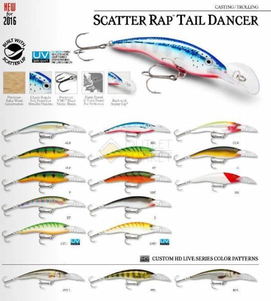 Rapala Scatter Rap Tail Dancer SCRTD09