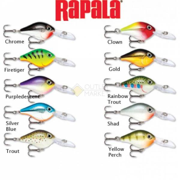 Воблер Rapala Ultra Light Crank ULC03