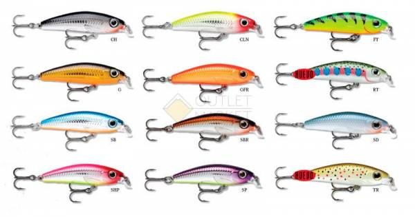 Воблер Rapala Ultra Light Minnow ULM06