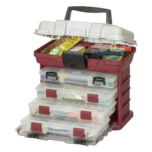 Ящик Plano 1354-00 с 4 коробками и верхним отсеком для аксессуаров