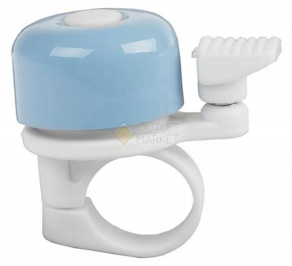 Звонок  сталь мини цвета в ассортименте белый корпус M-WAVE