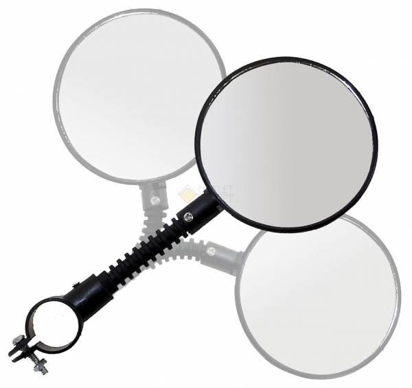 5-270002 Зеркало круглое 3 степ. свободы 84мм стекло черное