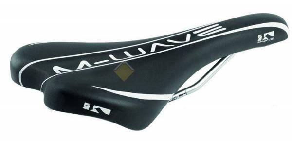 Седло спортивное 268х134мм 265г черно-белое M-WAVE COMP II