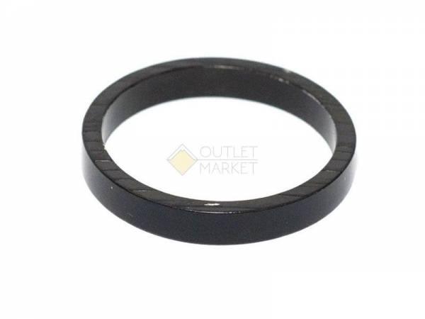 """Проставочное кольцо 1 1/8"""" алюминиевое 3 мм черный"""