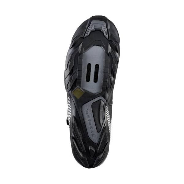 Велотуфли Shimano ME3 чёрные с белым