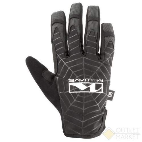 Перчатки M-WAVE длин. гель/эластан дыш. д/сенсора антискольз. черные SPIDERWEB