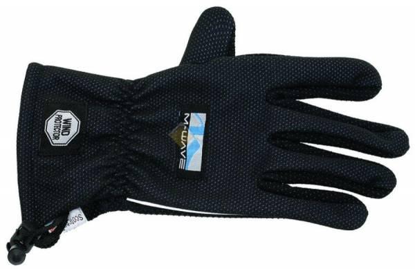 Перчатки длинные утепленные флисовые антискользящие влагозащищенные светоотражающие 3MSCOTCHLINE  черные M-WAVE