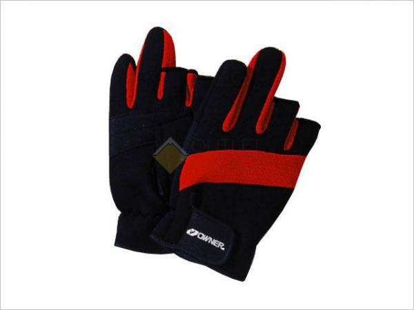 Перчатки рыболовные Owner 9642 L с пальцами