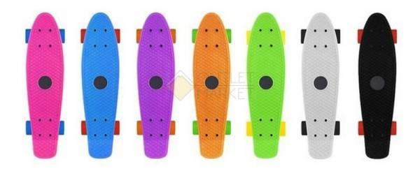 Скейтборд Mini cruiser Amigostar Фиолетовый