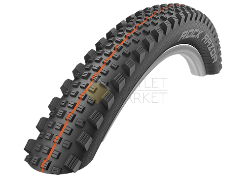 Покрышка Schwalbe 27.5x2.35 650B (60-584)  ROCK RAZOR SuperG, TL-Easy, Folding , Evolution, B/B-SK HS452 Addix Soft 67EPI EK