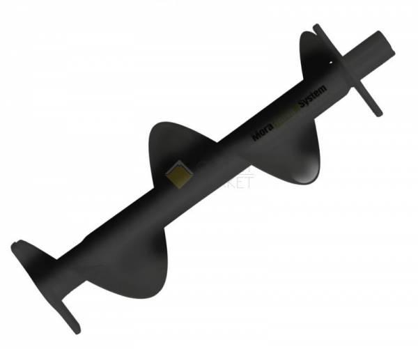 Удлинитель шнека со спиралью MORA ICE Nova 130 мм., цвет чёрный, длина 300 мм.