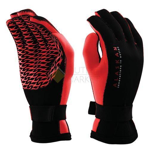 Перчатки неопреновые Alaskan черно/красный