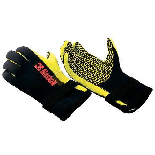 Перчатки неопреновые Alaskan черно/желтый