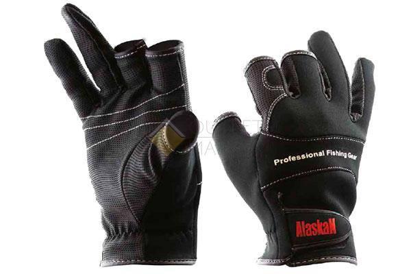 Перчатки спиннингиста Alaskan трехпалые