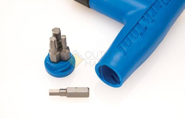 Динамометрический ключ ParkTool квадрат 1/4 биты 3,4.5 мм и T25, моменты: 4, 4.5, 5, 5.5, 6 Nm