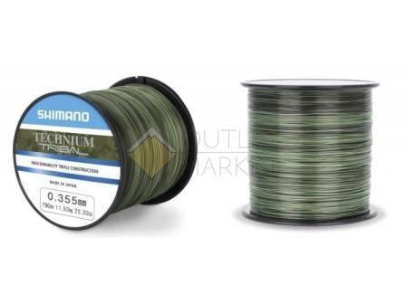 Леска SHIMANO Technium Trib комуфляжная зеленая