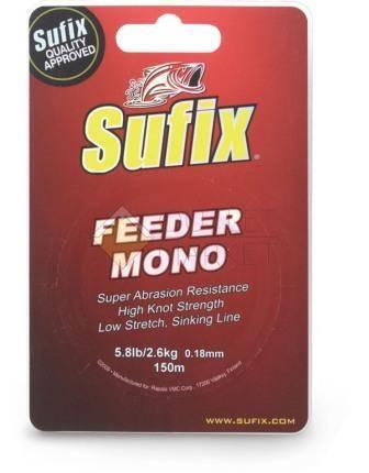 Леска SUFIX Feeder mono красная 150м