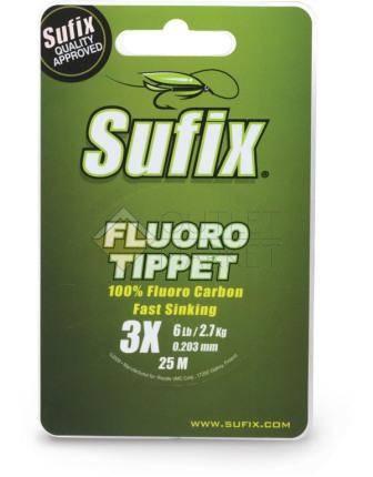 Леска SUFIX Fluoro Tippet прозрачная 25м
