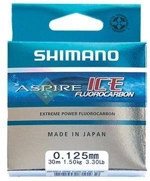 Леска зимняя SHIMANO Aspire Fluo Ice 30м прозрачная