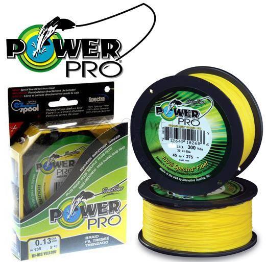 Леска плетеная POWER PRO 135м желтая