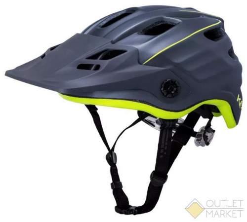 Шлем KALI ENDURO/MTB MAYA2.0 REVOLT Mat Tnm/Fluo Ylw 12отв. черно-неоновый матовый