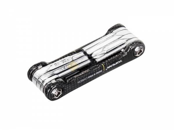 Мультитул TOPEAK Mini 9 Pro CB 9 функций неопреновый чехол в комплекте чёрный