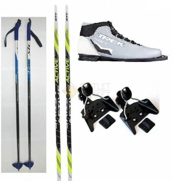 Лыжный Комплект с ботинками 75 мм  - 130см