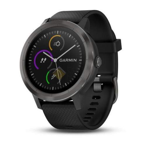 Смарт-часы Garmin Vivoactive 3 с функцией GARMIN PAY черные с черным ремешком