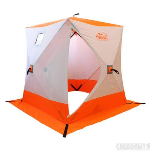 Палатка зимняя куб СЛЕДОПЫТ 1,5 х1,5 м 2-местная цвет бело-оранжевый PF-TW-09