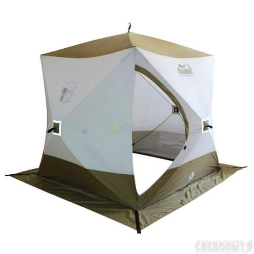 Палатка зимняя куб СЛЕДОПЫТ Premium 1,8х1,8 м 3-х местная 3 слоя PF-TW-13