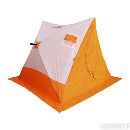 Палатка зимняя СЛЕДОПЫТ 2-скатная цвет бело-оранжевый PF-TW-19