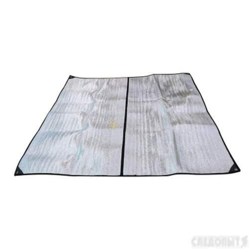 Пол для зимней палатки PF-TW-07 СЛЕДОПЫТ Эконом 2-х местн. 200х200х0,5 см однослойный полиэтилен вспен. PF-TWP-20