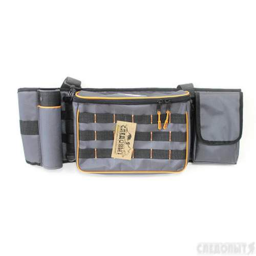 Сумка рыболовная поясная СЛЕДОПЫТ Fishing Belt Bag 74х22х10 см + 2 коробки Luno 20 PF-BPO-01
