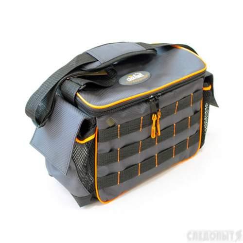 Сумка рыболовная СЛЕДОПЫТ Base Lure Bag L 36х22х15 см + 3 коробки Luno 20 PF-BBA-02