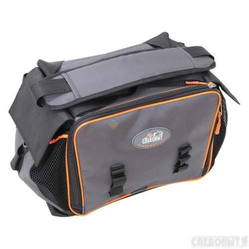 Сумка рыболовная СЛЕДОПЫТ Lure Bag L 40х25х21 см + 5 коробок Luno 20 PF-BBK-02