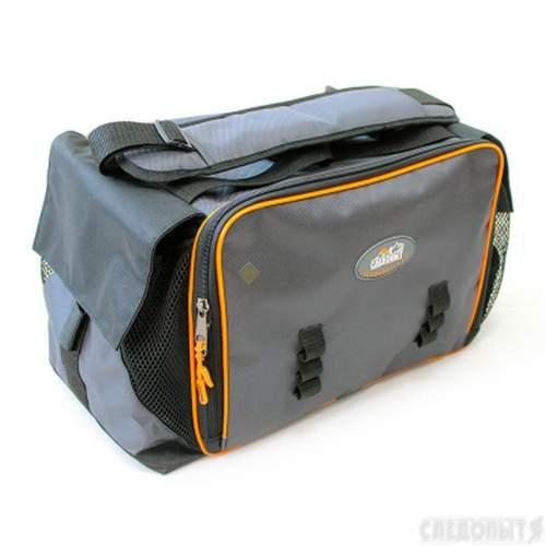Сумка рыболовная СЛЕДОПЫТ Lure Bag XL 40х28х24 см + 5 коробок Luno 28 PF-BBK-01