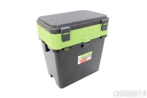 Ящик для зимней рыбалки FishBox Helios с навесными карманами 19 л зеленый MB-BU-W03